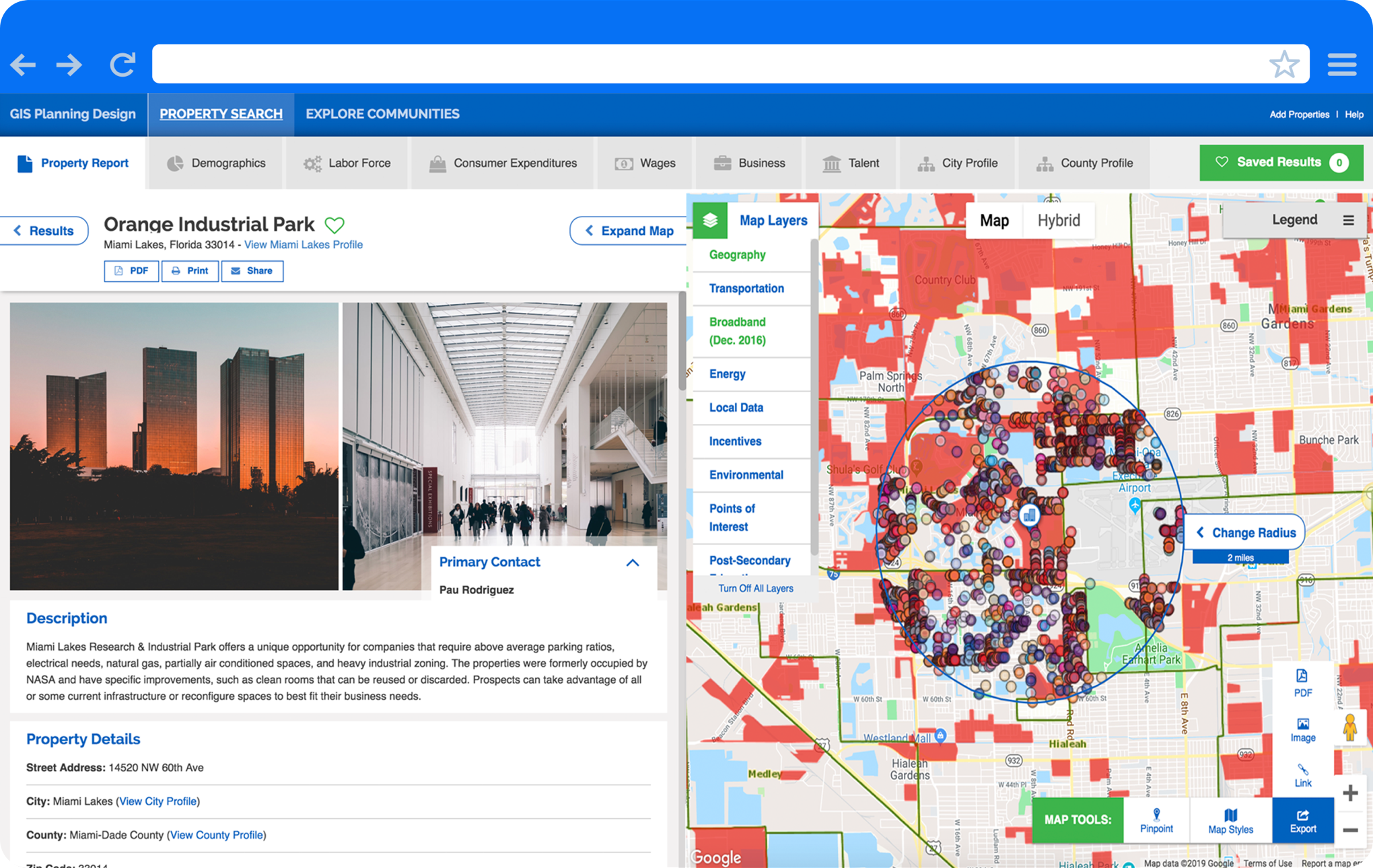 Drive investment to your location with mobile-friendly, interactive GIS data tools